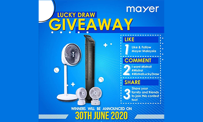 1st Lucky Draw Giveaway